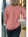 Vue de dos de la blouse hysteriko Clothilde Terra Cachemire