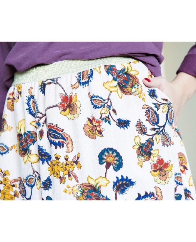 Détail tissu de la jupe hysteriko Kate Rose Paisley