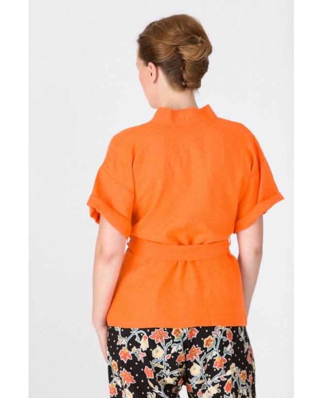 Vue de dos du Kimono hysteriko Bérénice Lin Mandarine
