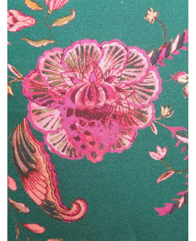 Détail motif du Snood hysteriko Sybille - Cachemire rose vert