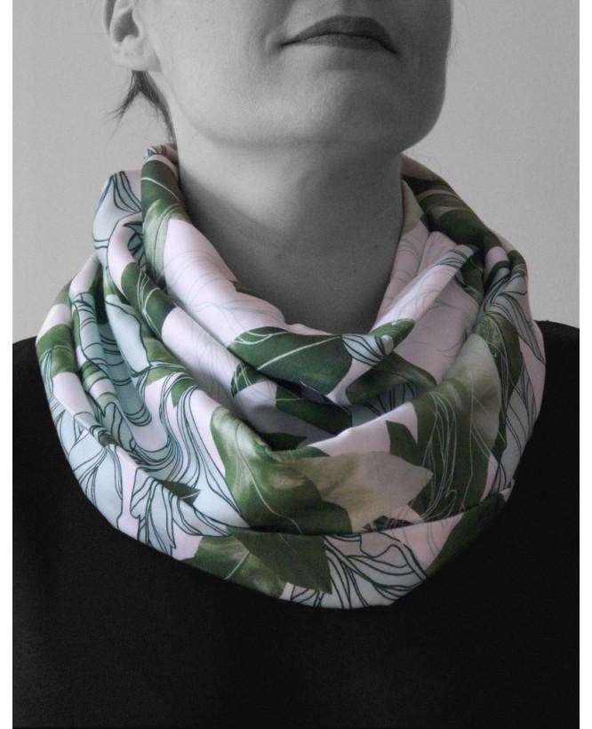 hysteriko - Snood Sybille - Tropical vert blanc