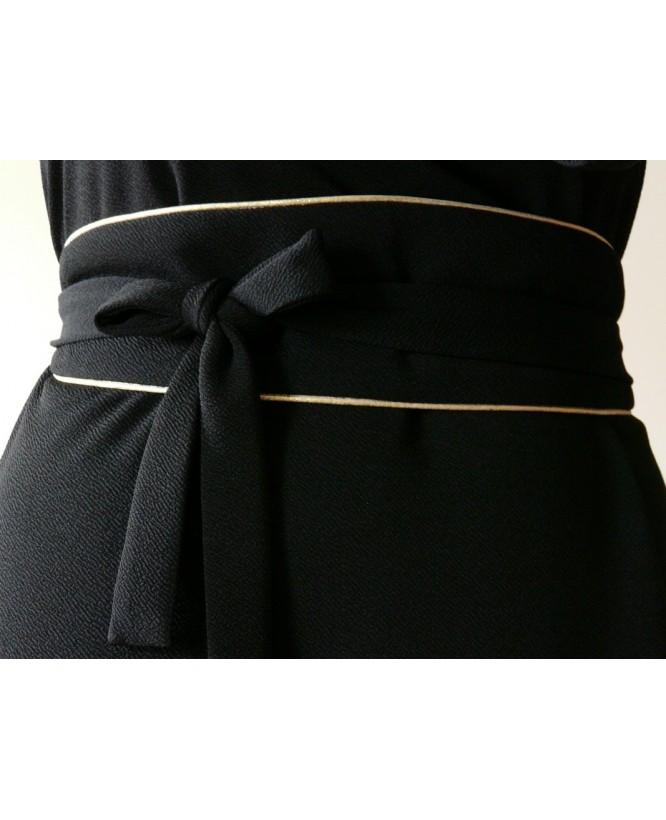 Détail de la ceinture de la Robe hysteriko Jasmine Noire