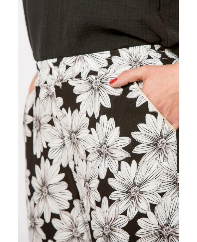 Détail poche et ceinture du pantalon hysteriko Georgia Marguerites
