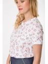 Détail tissu du top hysteriko Annie Blanc petites fleurs